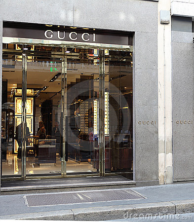 Gucci store Editorial Stock Image