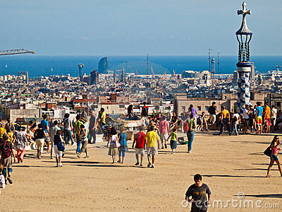 Guell Park, Barcelona Editorial Image