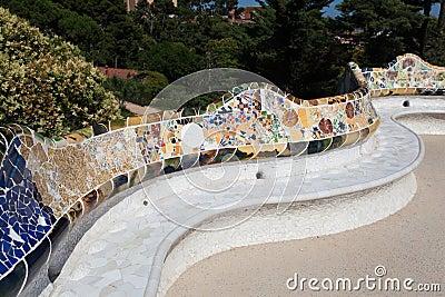 Guell Park Barcelona Catalunia Spain