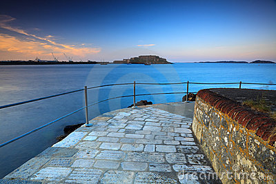 Guernsey view on castle Cornet