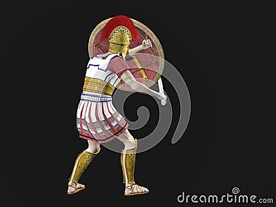 Guerreiro espartano ou romano grego