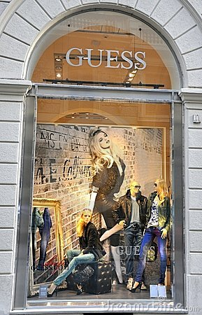 Guess fashion shop in Italy Editorial Stock Photo