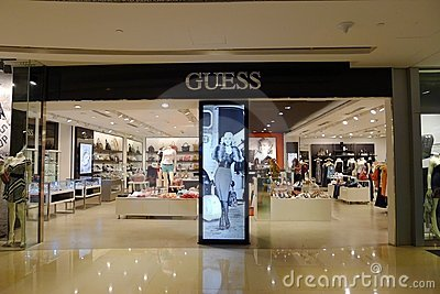 Guess Fashion Store Editorial Image