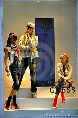 Guess fashion store in Italy Editorial Stock Photo