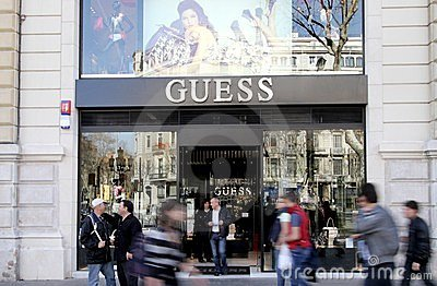 Guess Shop Editorial Photo