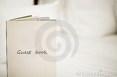 Guest Book Stock Photography - Image: 23920922