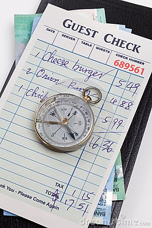 Guest Check and compass