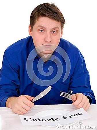 Guest of restaurant on diet