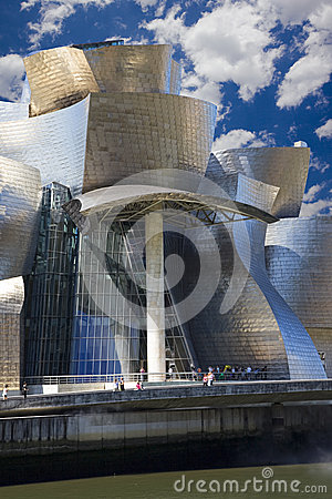 Guggenheim Bilbao museum hall Editorial Stock Image