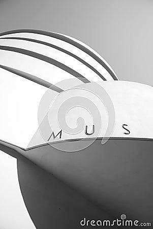 Guggenheim facade MUS Editorial Photo