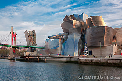 Guggenheim museum in Bilbao Editorial Stock Photo