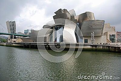 Guggenheim Museum in Bilbao Editorial Photo