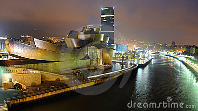 The Guggenheim  Museum in Bilbao Editorial Photo