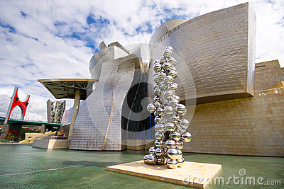 Guggenheim museum in Bilbao Editorial Photography