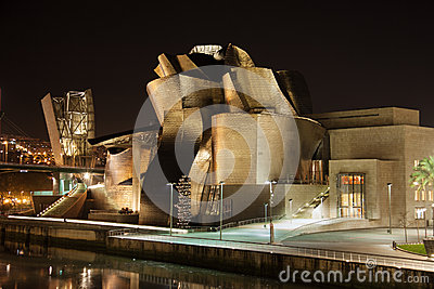 Guggenheim Museum at Bilbao Editorial Stock Image