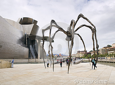 The Guggenheim Museum in Bilbao Editorial Photography