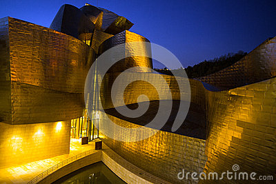 Guggenheim Museum at Bilbao Editorial Stock Image