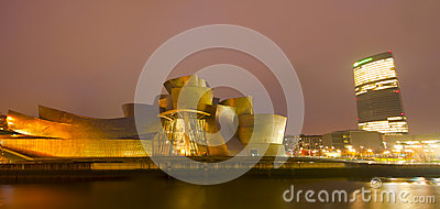 Guggenheim Museum Bilbao in December 2012. Editorial Stock Image