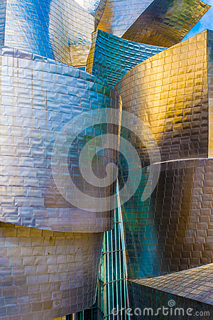 Guggenheim museum Bilbao at dusk Editorial Image