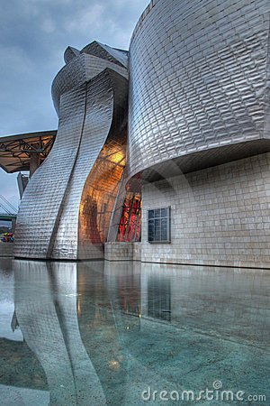 Guggenheim Museum Bilbao at night Editorial Photography