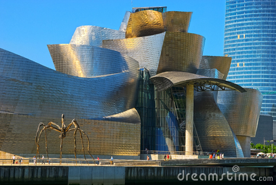 Guggenheim Museum Bilbao, Spain Editorial Stock Photo