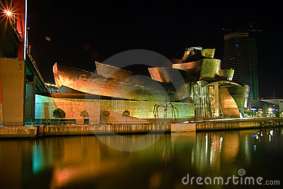 Guggenheim Museum Bilbao, Spain Editorial Photography