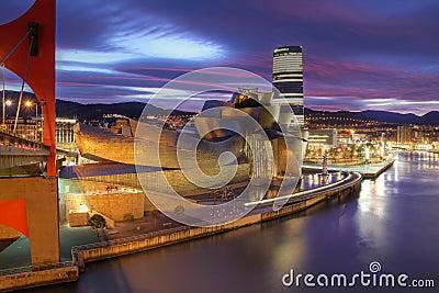 Guggenheim Museum in Bilbao, Spain Editorial Photography