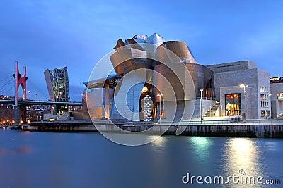 Guggenheim Museum, Bilbao, Spain Editorial Stock Photo