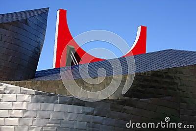 Guggenheim Museum an La Salve brigde Editorial Image