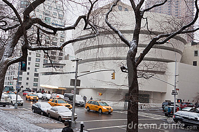 Guggenheim Museum Winter New York City Editorial Photo