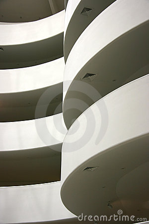 Guggenheim spirals detail Editorial Stock Image