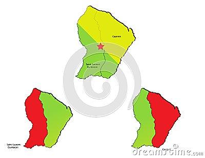 Guiana provinces maps