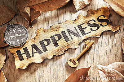 Guidance and key to happiness concept