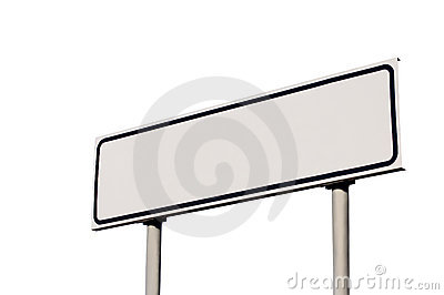 Guide Post Directional Road Sign Isolated signpost