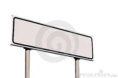 Guide Post White Directional Road Sign Isolated