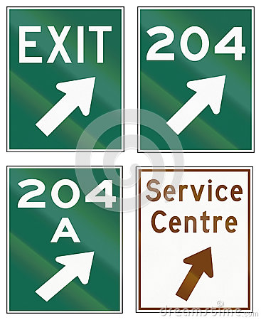 Free Guide Road Signs In Ontario - Canada Royalty Free Stock Image - 62801016