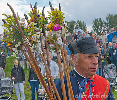 Guild Festival in the Dutch village of Terheijden Editorial Stock Photo