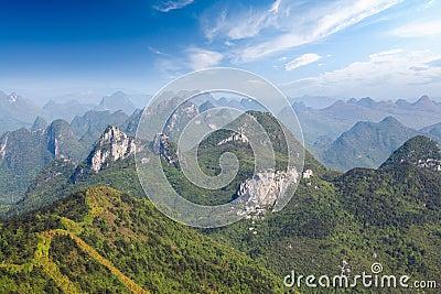 Guilin karst mountain landscape