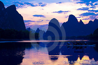 Guilin mountains and rivers