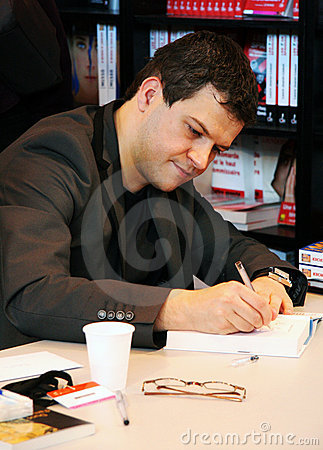 Guillaume Musso at Paris Book Fair 2009 Editorial Photography