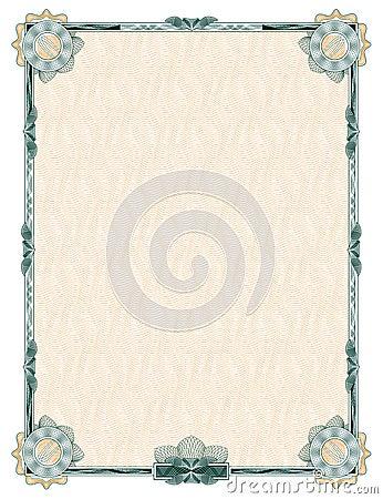 Guilloche: classic decorative frame