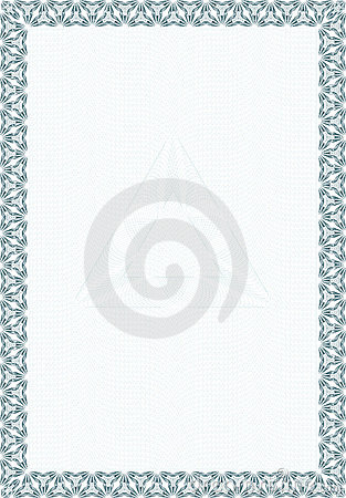 Guilloche style form for diploma or certificate