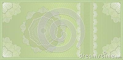 Guilloche voucher, banknote or certificate