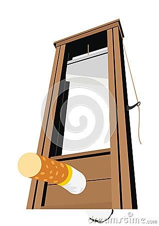 The guillotine and a cigarette