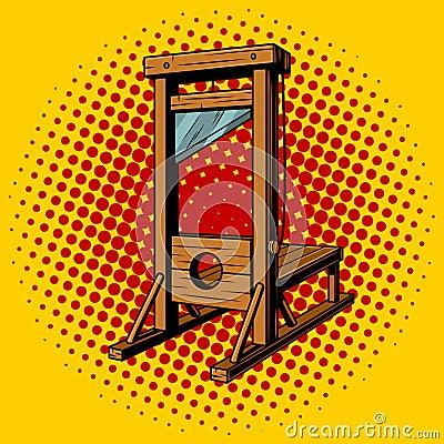 Free Guillotine Pop Art Vector Illustration Stock Photo - 94362070