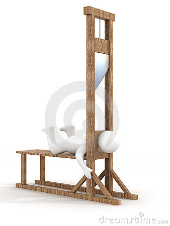Guillotine on a white background.