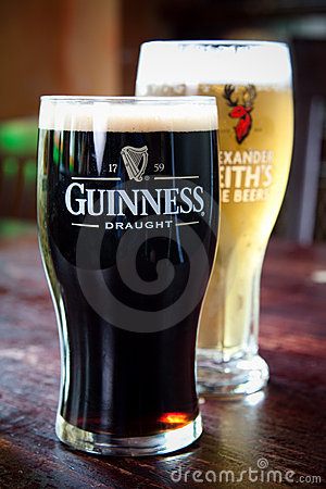 Guinness and Alexander Keith s Editorial Stock Photo