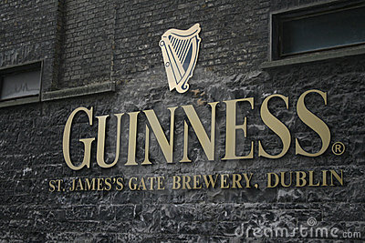 Guinness brewery logo in Dublin Editorial Image