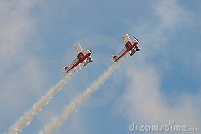 Guinot Wing Walking team Editorial Photography