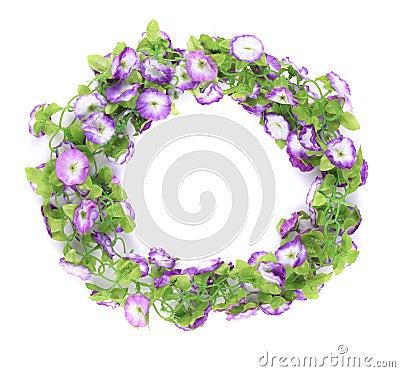 Guirlande des fleurs artificielles photo stock image for Guirlande fleurs artificielles